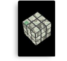rubix cube dollar Canvas Print