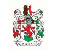 Mount Coat of Arms Art Print