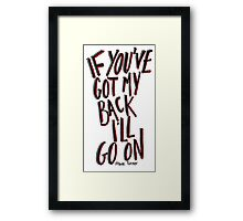 Frank Turner - If Ever I Stray Framed Print