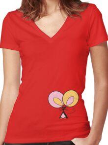 Pocket Mouse Women's Fitted V-Neck T-Shirt