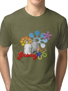 """Groovy"" Tri-blend T-Shirt"