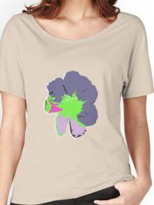 Color Splash Pop Art Flower Women's Relaxed Fit T-Shirt