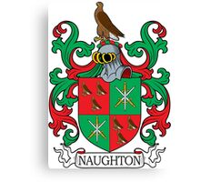 Naughton Coat of Arms Canvas Print