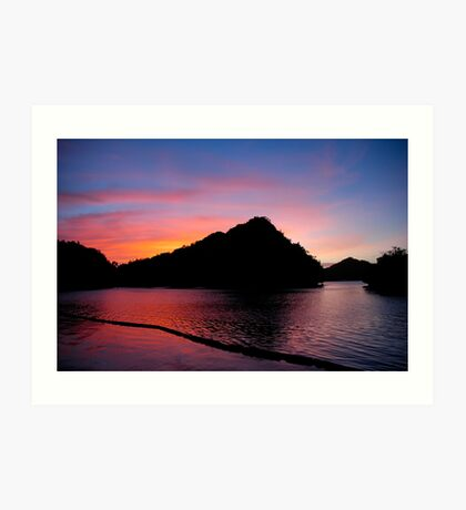 Palau Sunset Art Print