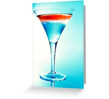 Cocktail in Blue Greeting Card
