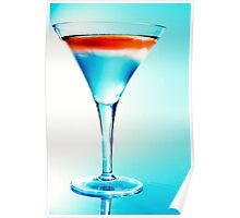 Cocktail in Blue Poster