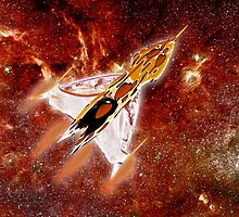A Space Interceptor in Milky Way Galaxy - all products by Dennis Melling