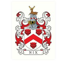 Nix Coat of Arms Art Print