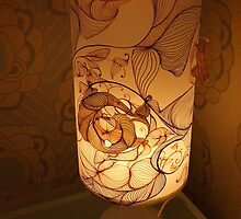 Handmade Paper Lamp +++ by Martina Stroebel