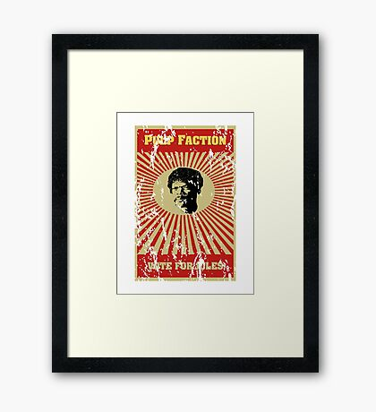 Pulp Faction - Jules Framed Print