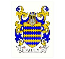 Pauly Coat of Arms Art Print