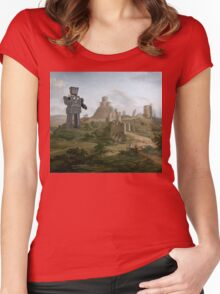 Enter the Droid. Women's Fitted Scoop T-Shirt