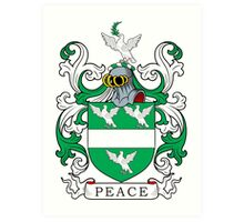 Peace Coat of Arms Art Print