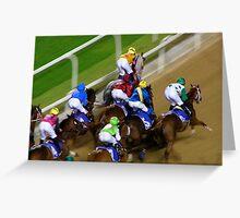 Dubai Night Races Greeting Card