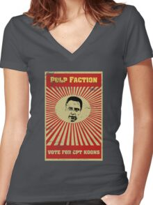 Pulp Faction - CPT Koons Women's Fitted V-Neck T-Shirt