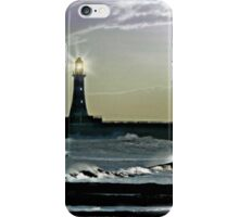 By the Light of the Silvery Moon - Roker Pier & Lighthouse iPhone Case/Skin