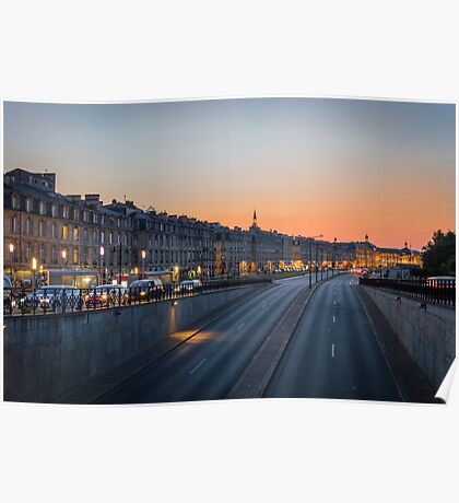 Sunset on Bordeaux Poster