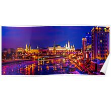 Panoramic View Of Moscow Kremlin Poster