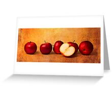 Apples In Red Greeting Card