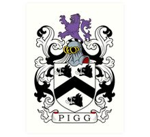 Pigg Coat of Arms Art Print