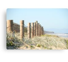 Beached fence Canvas Print