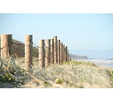 Beached fence Photographic Print