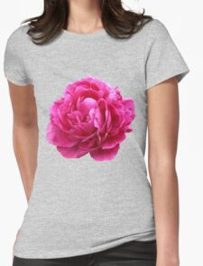 Pink peony Womens Fitted T-Shirt