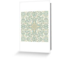 Soft Sage & Cream hand drawn floral pattern Greeting Card
