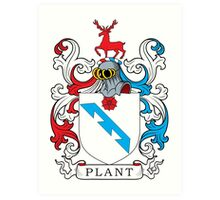 Plant Coat of Arms Art Print