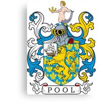 Pool Coat of Arms Canvas Print