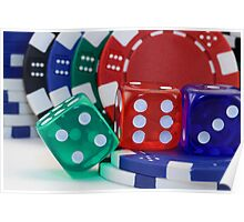 Dice and Poker Chips Poster