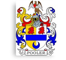 Pooler Coat of Arms Canvas Print