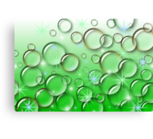 Bubble Sparkles Green  Canvas Print