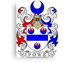 Powe Coat of Arms Canvas Print