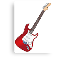 Fender Stratocaster Guitar Canvas Print