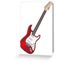 Fender Stratocaster Guitar Greeting Card