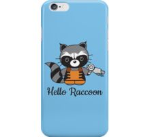 Hello Raccoon iPhone Case/Skin