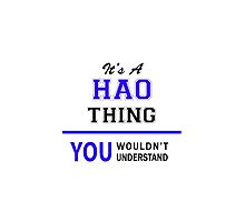 It's a HAO thing, you wouldn't understand !! by thenamer
