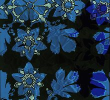 floral invert by Leanne  Gilbert