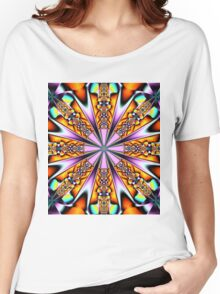 Colourful decorative patterns in a kaleidoscope Women's Relaxed Fit T-Shirt