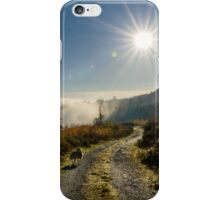 Just above the fog, Brandon Hill, Graiguenamanagh, County Kilkenny, Ireland iPhone Case/Skin