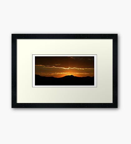 Saratoga Springs Sunset Framed Print