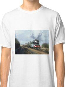 Steam Train Digital Painting / Locomotive Print Classic T-Shirt
