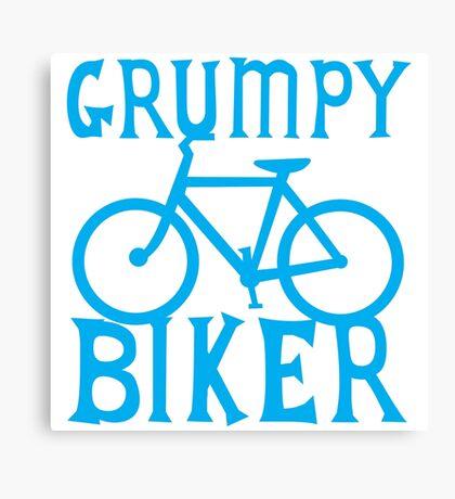 GRUMPY BIKER in blue Canvas Print