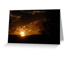 Alpine Sunset Greeting Card