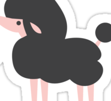 French pooch poodle dark Sticker