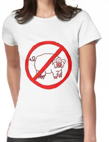 No Hogs Circle  Womens Fitted T-Shirt