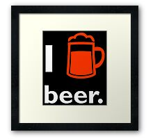 I BEER Framed Print