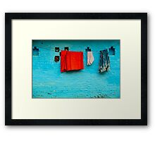 Blue Wall Hangings Framed Print