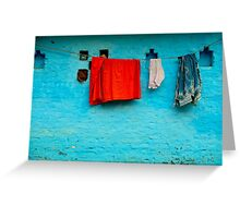 Blue Wall Hangings Greeting Card